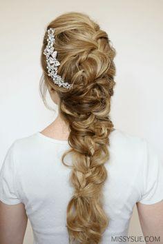 The Mermaid Hairstyle   Pinterest   Bun bow, Mermaid braid and High bun