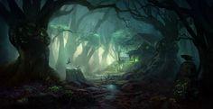 Mystic forest, Giao Nguyen on ArtStation at https://www.artstation.com/artwork/m14V8?utm_campaign=crowdfire&utm_content=crowdfire&utm_medium=social&utm_source=twitter