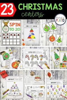 If you're looking for awesome Christmas centers for Pre-K or Kindergarten, make sure to add these to your lesson plans! There are 23 fun and Christmas themed math and literacy centers that are easy and low prep, and will have your early learners having fun while practicing important math and literacy skills! This is a perfect resource for early childhood teachers! #prek #kindergarten #christmasactivities #kindergartencenters #prekcenters Phonics Activities, Kids Learning Activities, Craft Activities, Christmas Activities, Christmas Themes, Christmas Goodies, Christmas Crafts, Kindergarten Centers, Literacy Centers
