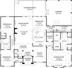 First Floor Plan image of Old Wesley House Plan. I like the mud room, laundry, pantry, master bath together for easier plumbing.