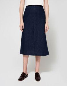 Lucer Denim Skirt in Blue