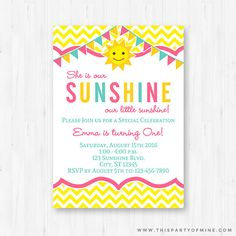 Hey, I found this really awesome Etsy listing at https://www.etsy.com/listing/274496822/you-are-my-sunshine-invitation-printable