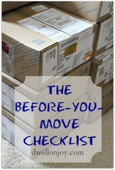 While a move can be a big endeavor, you can lessen the work involved. Almost makes me want to move again just so I can declutter. But just in case anyone else is moving soon, here's some great tips and tricks to make moving easier! Moving Day, Moving Tips, Moving House, Moving Hacks, Organizing For A Move, Organizing Tips, Cleaning Tips, Moving Checklist, Travel Checklist
