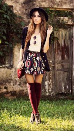 Cute autumn fashion outfits for 2015 : People will stare. Make it worth their while.
