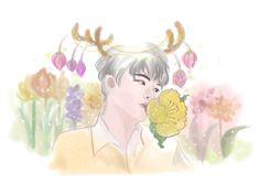 seventeen  mingyu&flower