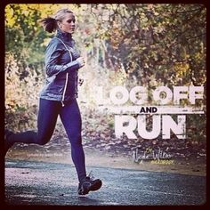 One of the best feelings in the world is to shut my laptop after I've finished writing and head out the door for a long run!