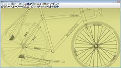 Modeling seat stay and chain stay bridges in BikeCAD.