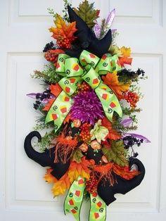 deco mesh witch wreath | Grapevine/Deco Mesh Wreaths