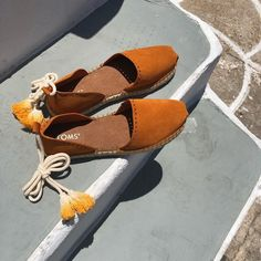 A Cycladic love journey is only perfect when enjoyed in pair of Moroccan-inspired pair of espadrilles! Toms Espadrilles, Tom S, Spring Summer 2018, Moroccan, Highlights, Journey, Women's Fashion, Pairs, Inspired