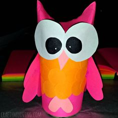 DIY Owl Toilet Paper Roll Craft For Kids - Crafty Morning