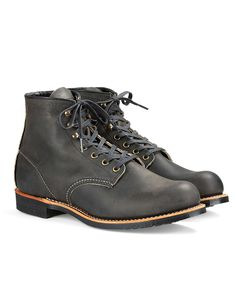 Blacksmith Boot in Rough & Tough Leather in Charcoal