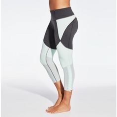 Stay light, trendy, and comfortable in the CALIA™ by Carrie Underwood Women's Adjustable Mesh Capris. Soft Califlex fabric feels amazing next to your skin, while mesh pieces keep you cool. Cinch leg openings let you control fit, and stretch properties allow for movable comfort. Complete with moisture-wicking properties, flat seams, and antimicrobial technology, the CALIA™ Adjustable Mesh Capris are the perfect blend of fashion and function.