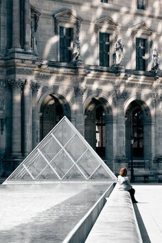 Pyramid at Louvre by IM Pei