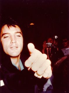 """Elvis Presley at International Hotel for Nancy Sinatra's Opening Night post show party, Las Vegas, NV, August 29, 1969. """