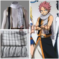 Athemis FAIRY TAIL Scarf   Natsu Dragneel Scarves about 180cm length Double Fabric High Quality Don't drop wires