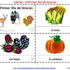Spanish Thanksgiving Booklets / Primer Dia de Gracias Libritos - One booklet with text and illustrations and the other with text only so students can illustrate and create their own booklets.