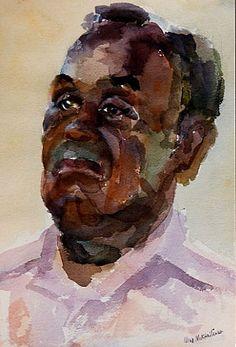 Nina Mikhailenko watercolor portrait