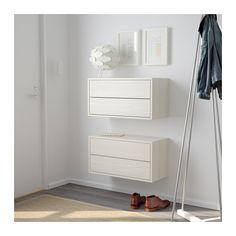 VALJE Seinäkaappi, 2 laatikkoa - lehtikuusi valkoinen - IKEA