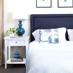 What is Hampton's Style? Hampton's Style Interiors & Decorating For Australian Homes Linen Bedroom, Home Bedroom, Bedroom Furniture, Bedroom Decor, Bedroom Inspo, Navy Furniture, Bedroom Ideas, Master Bedrooms, Dream Bedroom