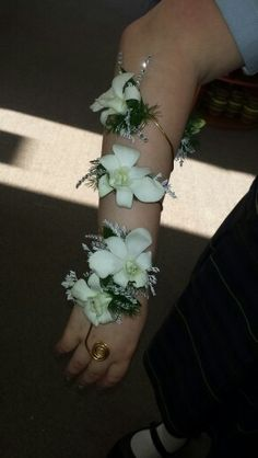 White orchid arm wrap