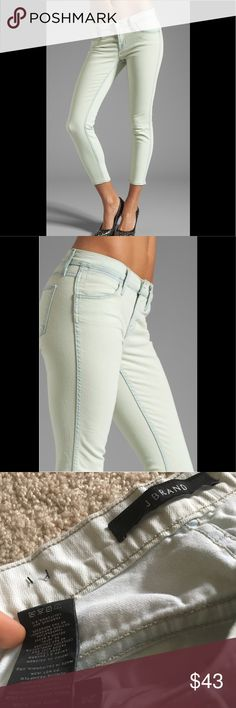 J Brand Skinny Jeans size 24 These J brand skinnies have never been worn before! They didn't fit me properly but they're so cute. The style is skinny and the color is Nirvana mint. Size 24. They're wrinkled from being folded but I'll iron before shipment. Make an offer :) retails for $198 J Brand Jeans Skinny