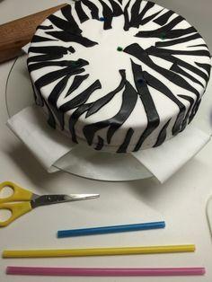Zebra Torte Fondant Jungel Safari