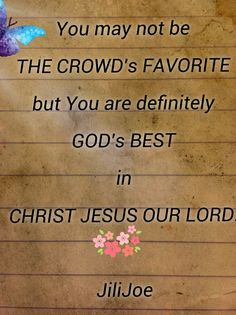 God's LOVE IN CHRIST JESUS
