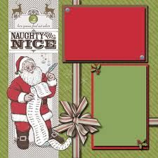 christmas scrapbook page - Google Search