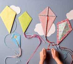 Paper Kites | Spring Inspiration | Kids' Crafts