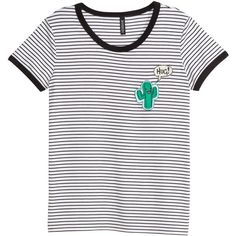Gestreiftes T-Shirt 12,99 ($14) via Polyvore featuring tops, t-shirts, jersey tee, jersey top and jersey t shirts