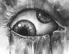 Creepy Sketches, Badass Drawings, Creepy Drawings, Dark Art Drawings, Art Drawings Sketches, Creepy Paintings, Face Paintings, Horror Drawing, Horror Art