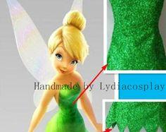 Hecho a mano - Tinker bell, traje de Tinkerbell, Tinkerbell disfraz, Tinker bell vestido, Tinker Bell Cosplay traje de adulto/niño