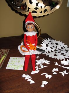 Snowflake-Cutting Elf