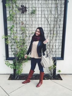 Outfit of the day exploring Auburn, CA. It was a cloudy day but great company and perfect sweater to keep me warm!