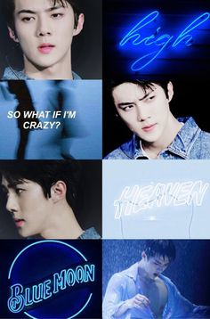 blue, exo, and moodboard image