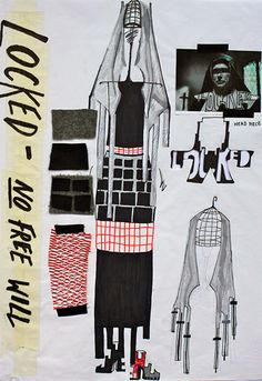 LAP London Art Portfolio - Student work - Fashion Design - 2012/13