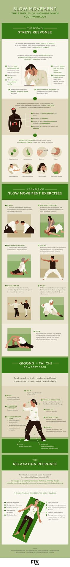 Stop hurrying through a workout and dial it back for a new look at fitness with slow movement. #Yoga #Qigong #TaiChi
