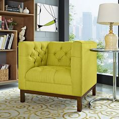 Panache Fabric Armchair in Wheatgrass