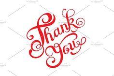 Thank You calligraphy. Vector Art. Script Fonts
