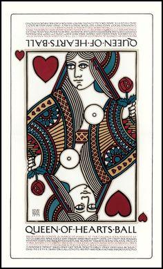 Queen of Hearts Ball, 1977 - David Lance Goines