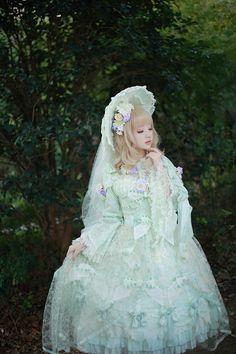 #parlement of foules menuet~鸟たちが集い白蔷薇が香る恋の歌~ワンピースドレス#