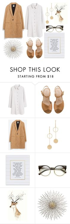 """""""Fall #3"""" by kimberlylindsey ❤ liked on Polyvore featuring MANGO, Zara, Cloverpost and SS Print Shop"""