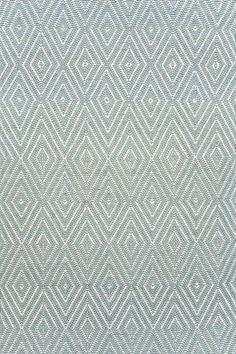 #DashAndAlbert+Diamond+Light+Blue/Ivory+Indoor/Outdoor+Rug