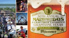 Grapevine hosts Main Street Days this weekend, details here!