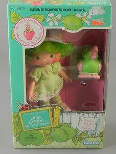 Strawberry Shortcake Lime Chiffon Parfait Parrot Figure Doll NIB 1982  http://cgi.ebay.com/ws/eBayISAPI.dll?ViewItem=330713691503=ADME:L:LCA:US:1123#ht_3403wt_754