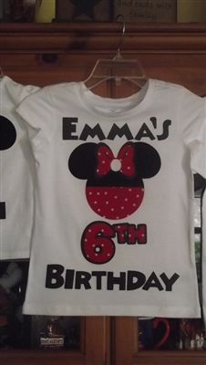 Minnie Mouse Birthday T-Shirt - magicshirtsrus.com $18.00