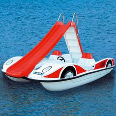 5 Seater Pedal Boat With Slide