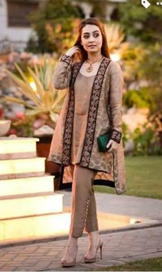 Pakistani gown short shirt with trouser