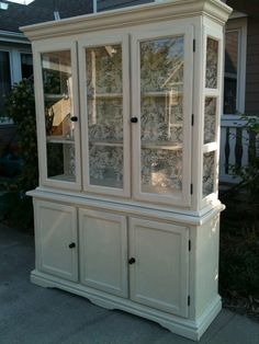 China Cabinet Painted ASCP Old Ochre