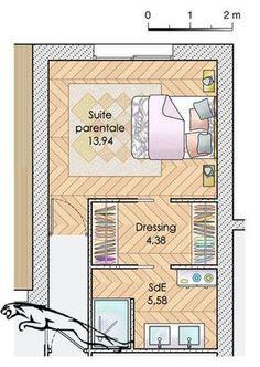 Une maison pour vivre au jardin - Faire construire sa maison   Plan maison meublé - Une maison pour vivre au jardin #schlafzimmer